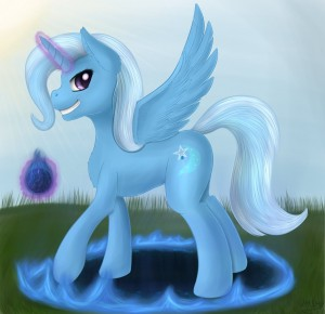 Alicorn Trixie  by ImShySoIhide