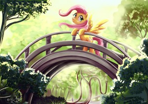 Fluttershy at the Golden Gate Park by Adlynh