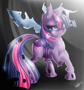 Twilight Sparkle as a changeling. by KnifeH