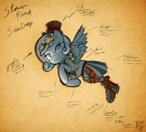 Steampunk Snowdrop by AI-battle-programer