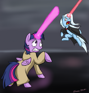 HORN LIGHTSABER BATTLE by Snapai